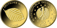 "1/8 Oz Gold, 20 Euro ""Buche"" 2011"