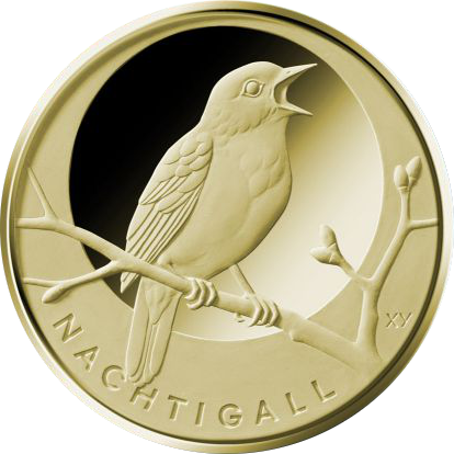 "1/8 Oz Gold, 20 Euro ""Nachtigall"" 2016"